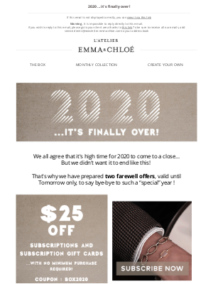 Emma & Chloé US - A $25 coupon? Just say yes! ⚡