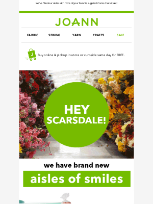Joann Stores - 👋 Hi, Scarsdale! Your store has a new look
