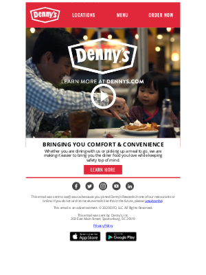 Denny's - Your Comfort & Safety Are Top Priorities.