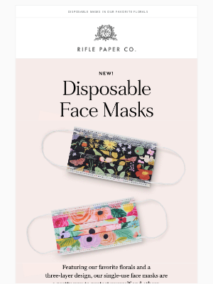 Rifle Paper Co. - Face Masks are Here!