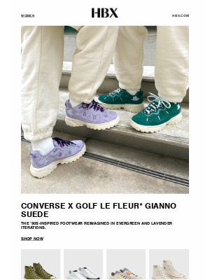 HYPEBEAST - Latest design from Converse x GOLF le FLEUR* is here!