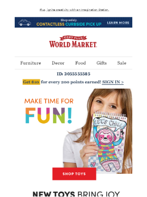 World Market - Keep little ones engaged with Toys that teach