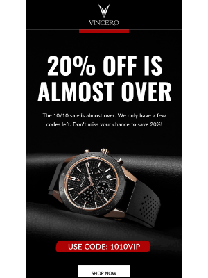 Vincero Collective - 20% Off Is Almost Over