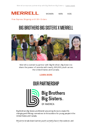 Merrell - Big Brothers Big Sisters Partners with Merrell