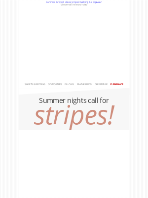 Cuddledown - Give your bedroom a breezy summertime feel with stripes!