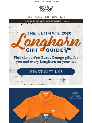 University Co-op - The 2020 Longhorn Gift Guide is Here