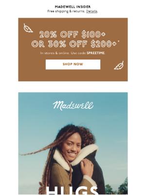 Madewell - Cozy coats = wearable hugs