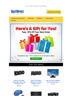 TigerDirect - Get 10% Off Your First Order