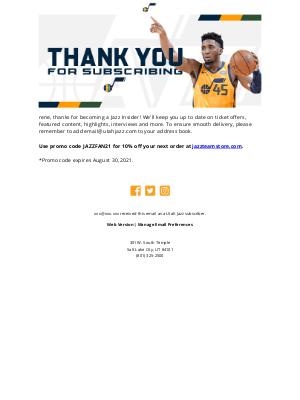 Utah Jazz - Thank you, rene!