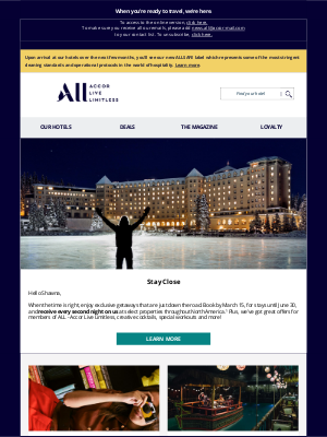 Accor Hotels - Make plans for a perfect year, Shawna