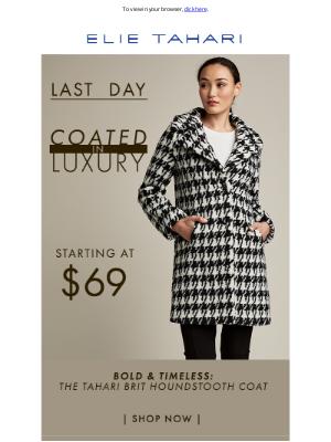 Elie Tahari - Tahari Coats At $69