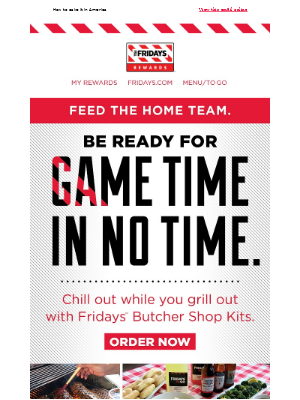 TGI Fridays - Time to Step Up Your 'Que Game