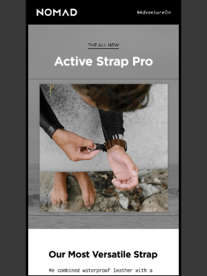 Nomad Goods - Just Launched | Active Strap Pro