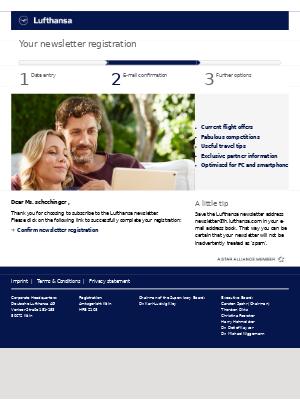 Lufthansa - Activate your Lufthansa iD