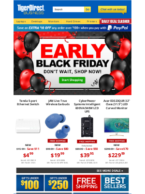 TigerDirect - Pre Black Friday Offers! $229 32