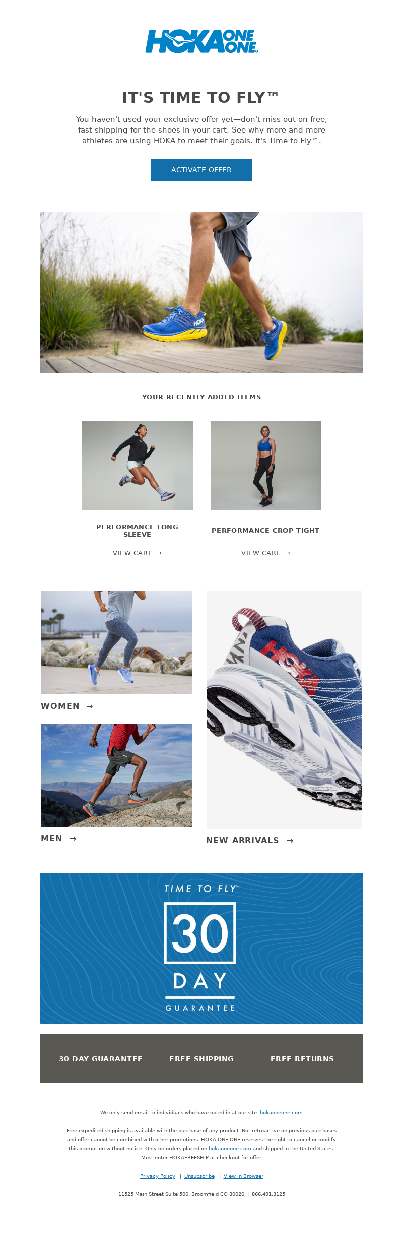 HOKA ONE ONE - Last chance: don't miss out on free expedited shipping