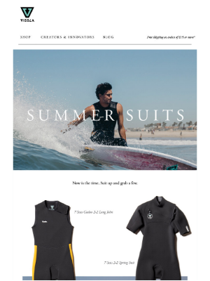 New Summer Wetsuits