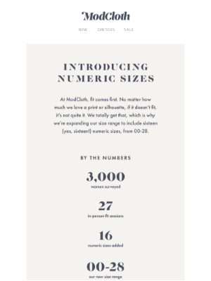 Introducing our new numeric sizing!