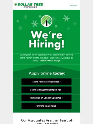 Dollar Tree - Join the Dollar Tree Team!