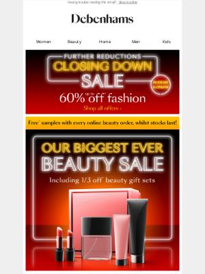 Debenhams (UK) - Our biggest EVER beauty sale is here 🎄
