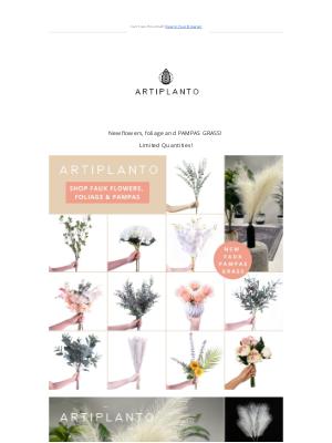 artiplanto - New Faux Flowers, Foliage & PAMPAS GRASS!