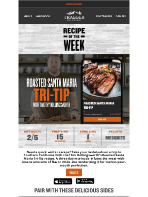 Traeger Grills - SoCal-Style Beef to Cure the Winter Blues
