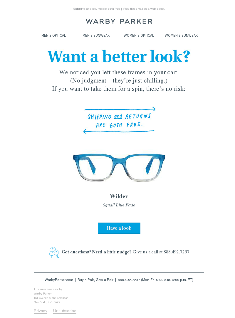 Warby Parker - Wilder might be the one