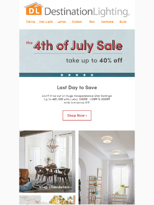 Last Day to Save! Up to 40% Off Savings End Tomorrow