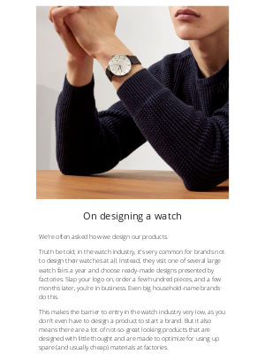 Linjer - How to design (or not design) a watch