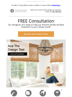 3 Day Blinds - Your Style + FREE Design Advice = Your Dream Home