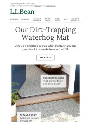 L.L.Bean - The Waterhog: A Door Mat Like No Other