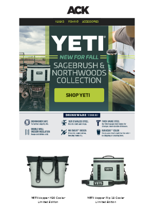 Austin Kayak - New Colors from YETI – Northwoods & Sagebrush Green
