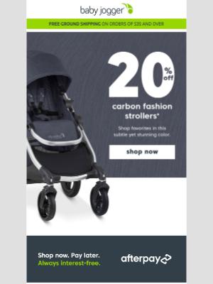 Baby Jogger - set your sights on something sleek...