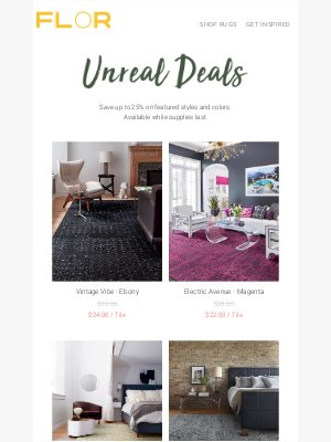 FLOR - 😍 Free shipping on Unreal Deals