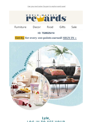 World Market - Explore your Member Rewards!