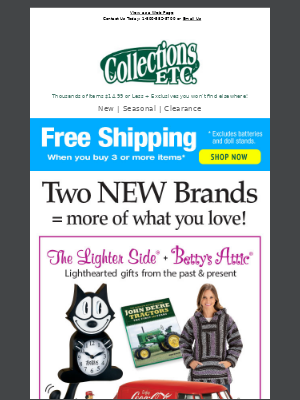 Collections Etc. - Say Hello To Our New Brands: The Lighter Side + Betty's Attic & Things You Never Knew Existed...