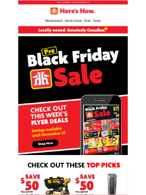 Home Hardware (CA) - Get a jump on pre-Black Friday savings
