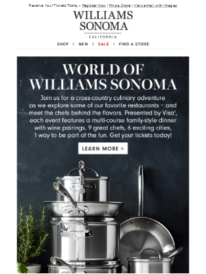 Introducing the World of Williams Sonoma Dinner Series