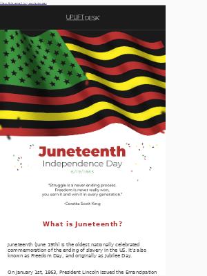 Uplift Desk - Juneteenth Independence Day
