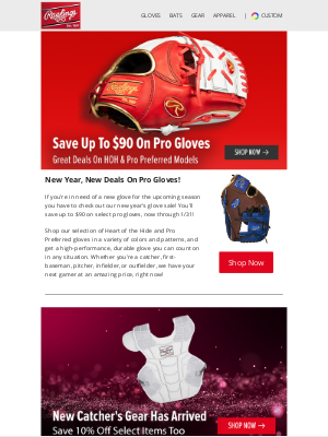 Rawlings Sporting Goods - Save Up To $90 On Pro Gloves Now 🤑