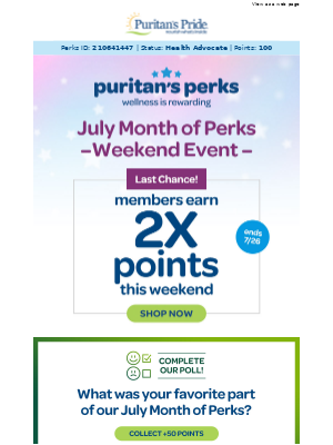 Double the points: Earn more with each 💲