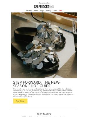 Selfridges (UK) - Step forward: the new-season shoe guide