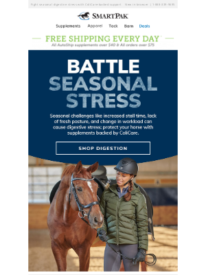 SmartPak Equine - Our Top Picks to Fight Seasonal Digestive Stress