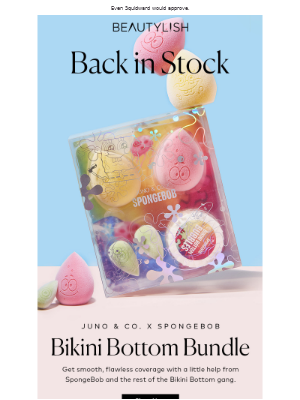 Beautylish - Back in stock: JUNO & Co.'s sold-out SpongeBob set