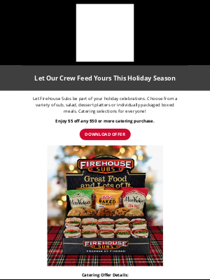 Firehouse Subs - 🎄Let Our Crew Feed Yours This Holiday Season🎁