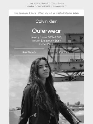 Calvin Klein - New Outerwear