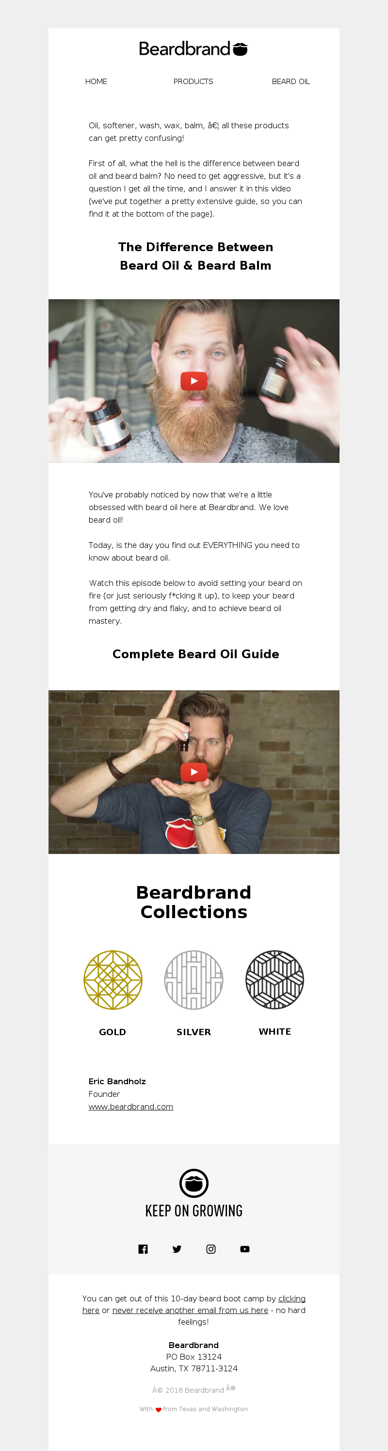 Should you get your beard oil by the gallon? Beardbrand Home Products Beard
