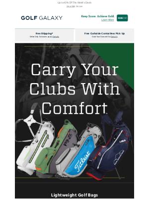 Golf Galaxy - Lightweight Golf Bags from Titleist, PING & More