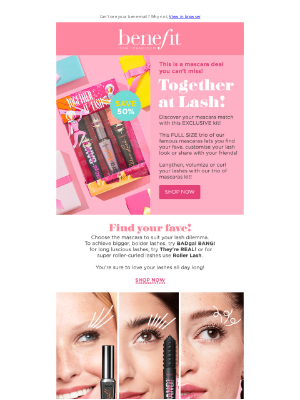 Benefit Cosmetics (UK) - This mascara kit won't be around for long!