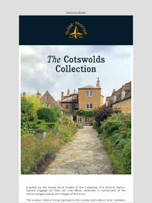 Globe-Trotter - New: The Cotswolds Collection in Stone Grey